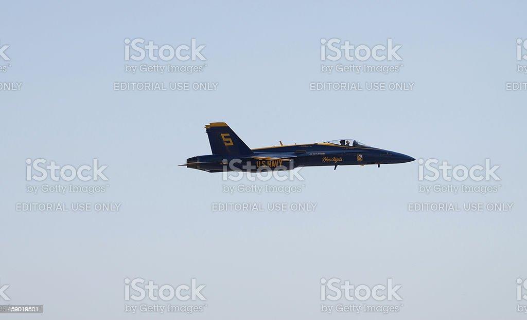 Blue Angel in Flight royalty-free stock photo
