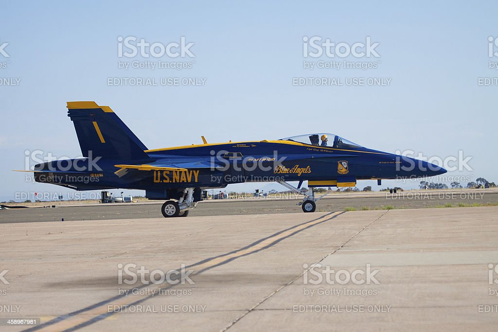 Blue Angel Number 1 Ready for Takeoff royalty-free stock photo