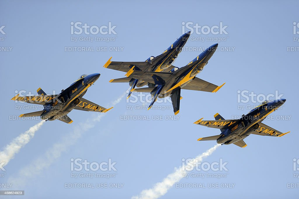 Blue Angels Air Show Exhibition royalty-free stock photo