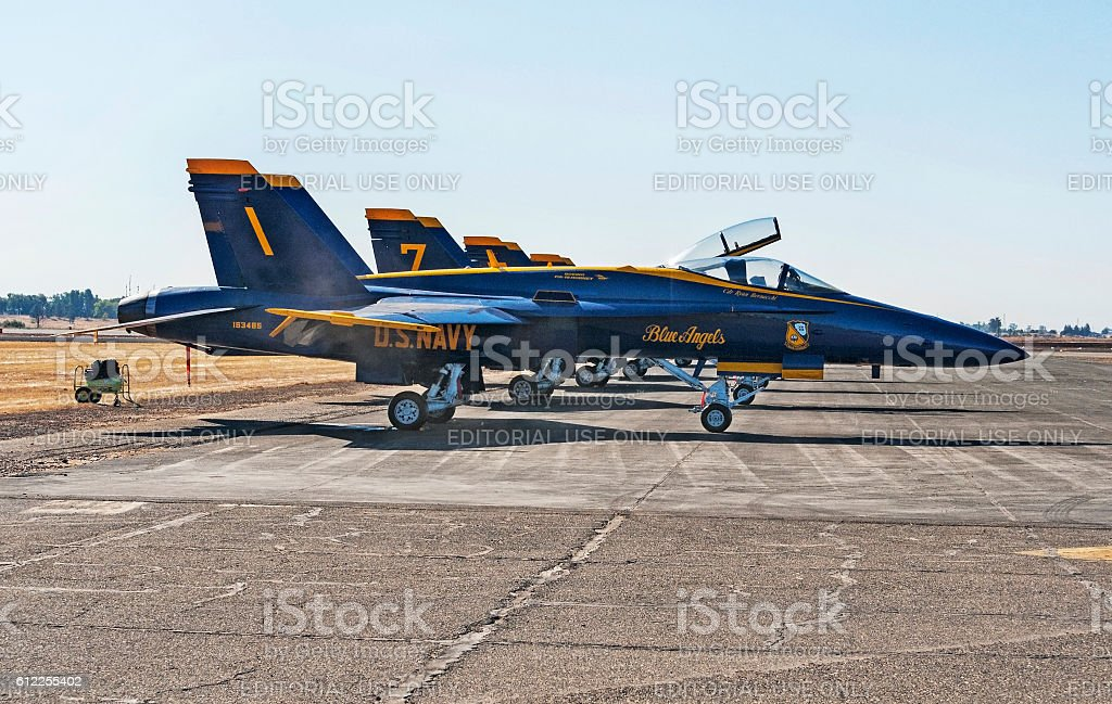 Blue Angels Aircraft for Air Show stock photo