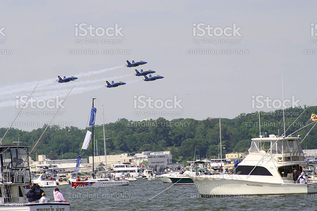 Blue Angels, Annapolis, Maryland stock photo