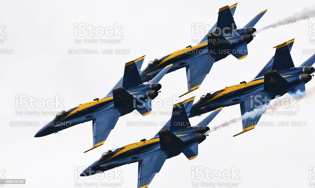 Blue Angels Close Formation royalty-free stock photo