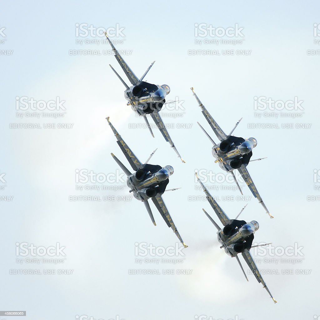 Blue Angels Diamond Formation stock photo