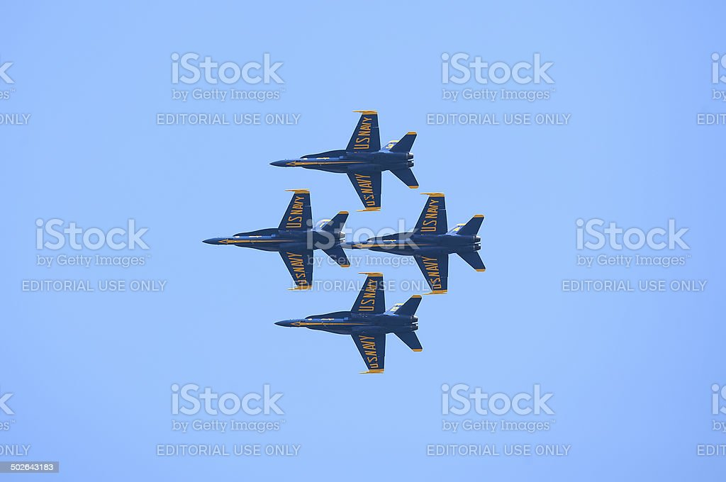 Blue Angels Diamond Formation royalty-free stock photo