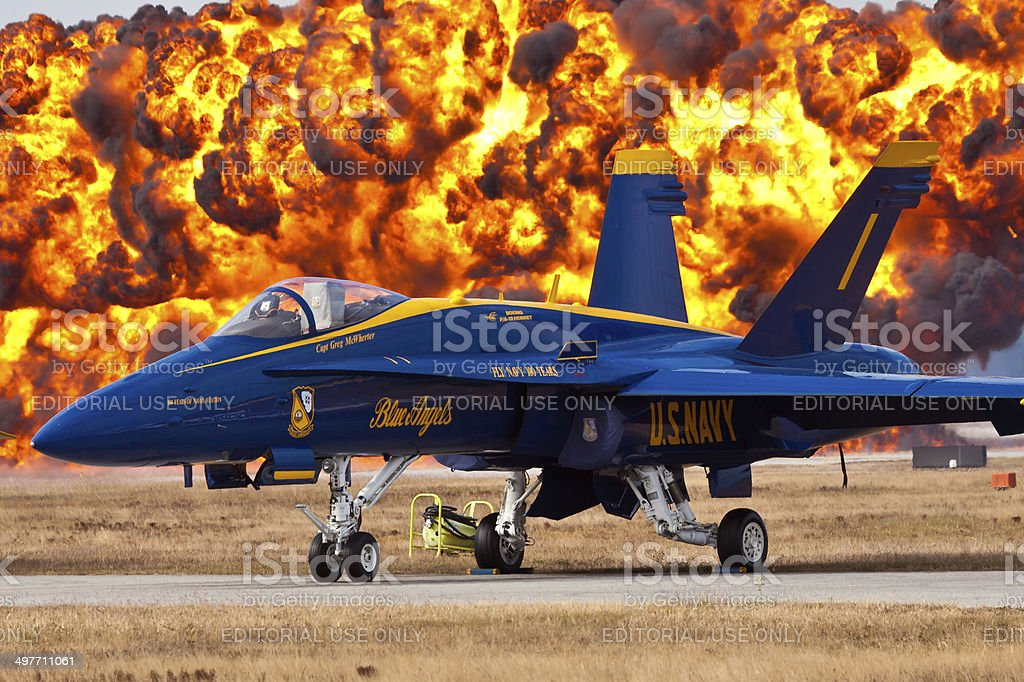 Blue Angels F-18 Hornet stock photo