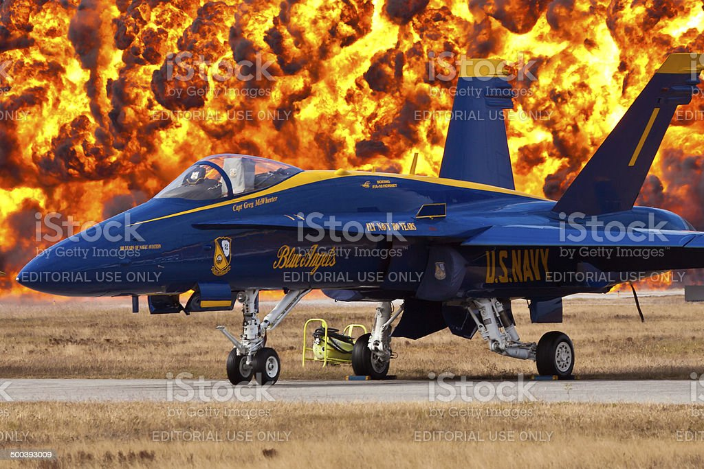 Blue Angels F-18 Hornet stock photo