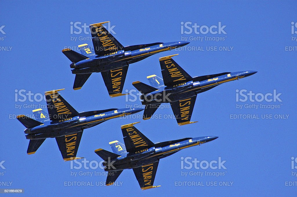 Blue Angels Flying in Formation stock photo