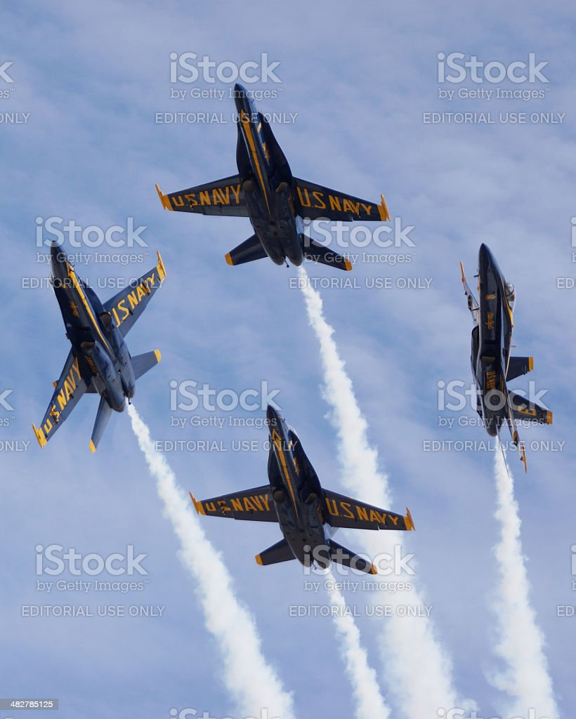Blue Angels Formation Break royalty-free stock photo