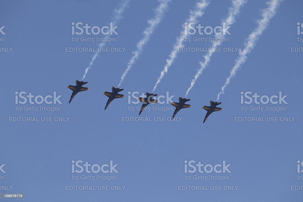 Blue Angels In Flight royalty-free stock photo
