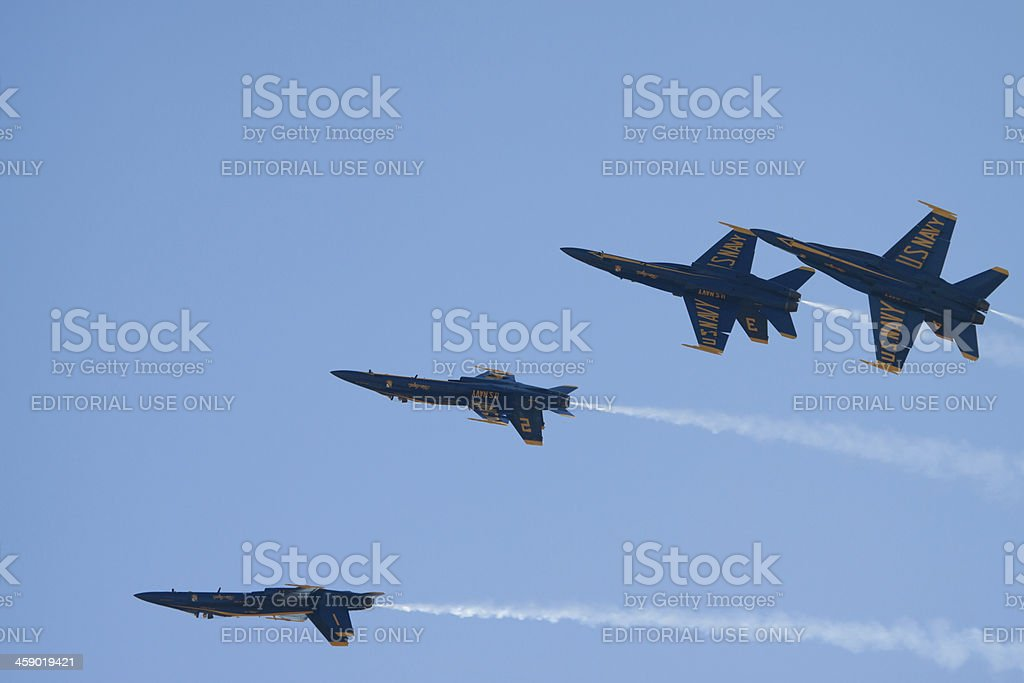 Blue Angels In Formation royalty-free stock photo