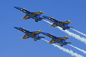Blue Angels Navy jet fighters