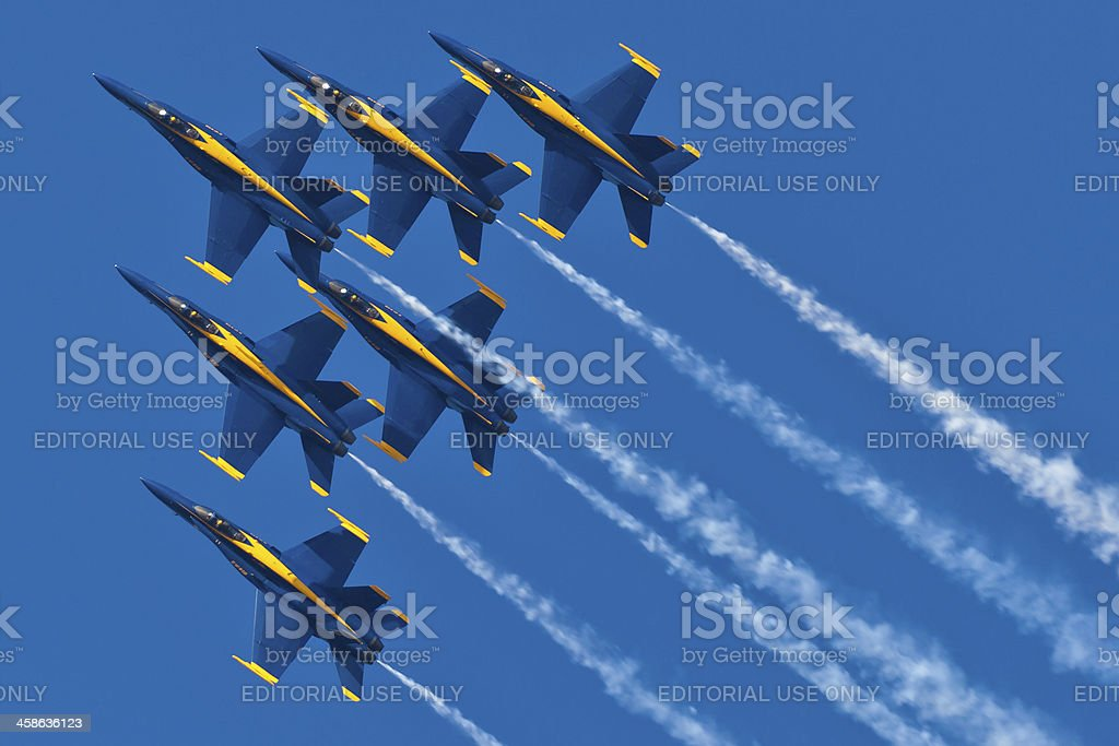 US NAVY Blue Angels stock photo