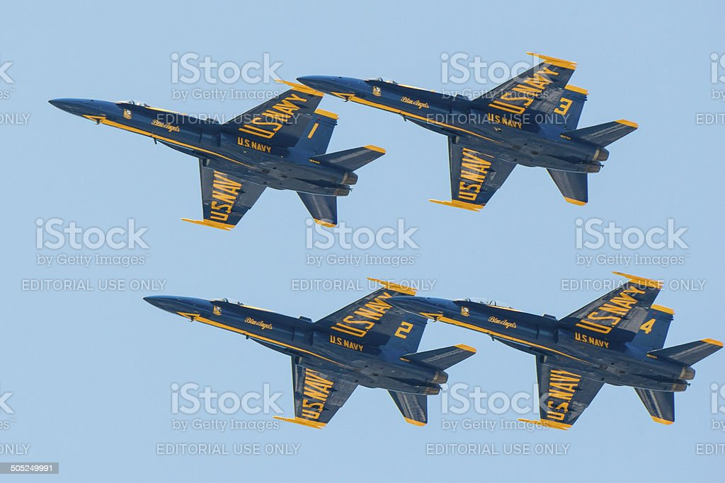 Blue Angels stock photo