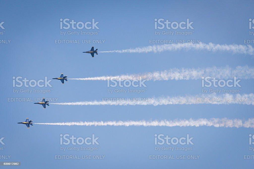 Blue Angels stock photo