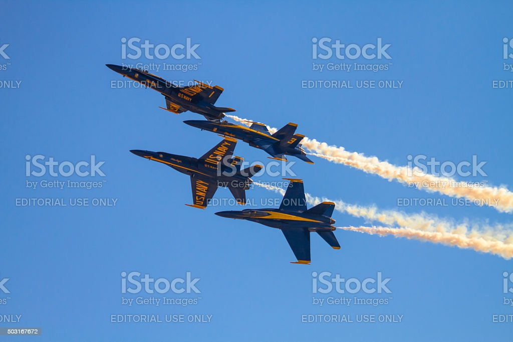 US NAVY Blue Angels Squadron stock photo