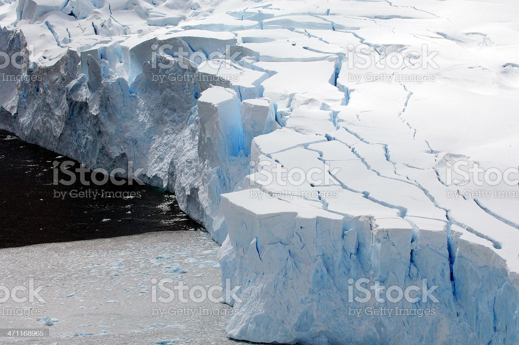 Blue Antarctic Glacier royalty-free stock photo