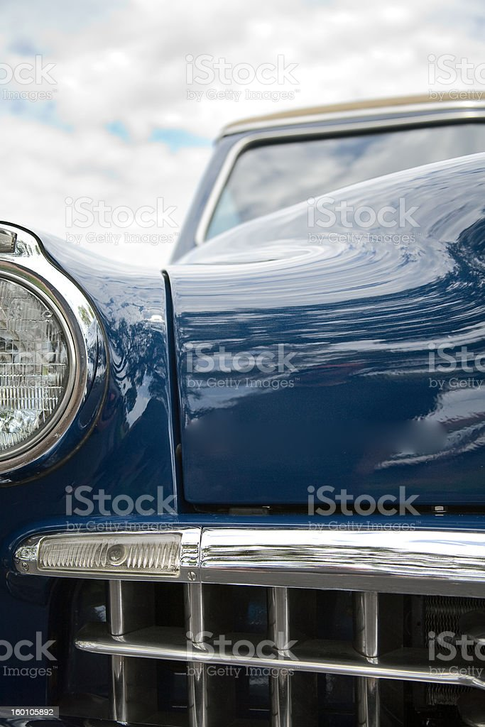 Blue Antique Car stock photo