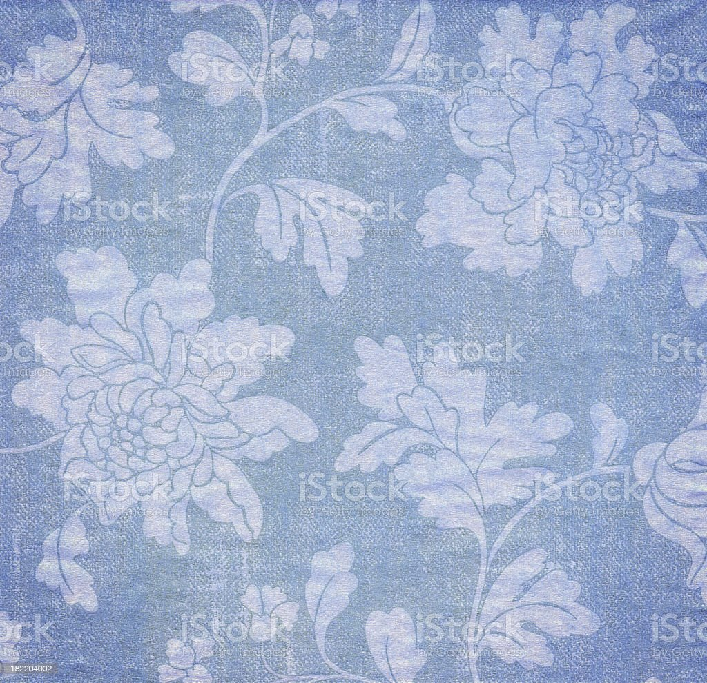 Blue Antique Wallpaper Background royalty-free stock photo