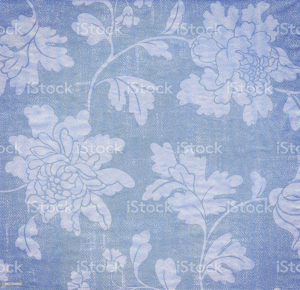 Blue Antique Wallpaper Background stock photo