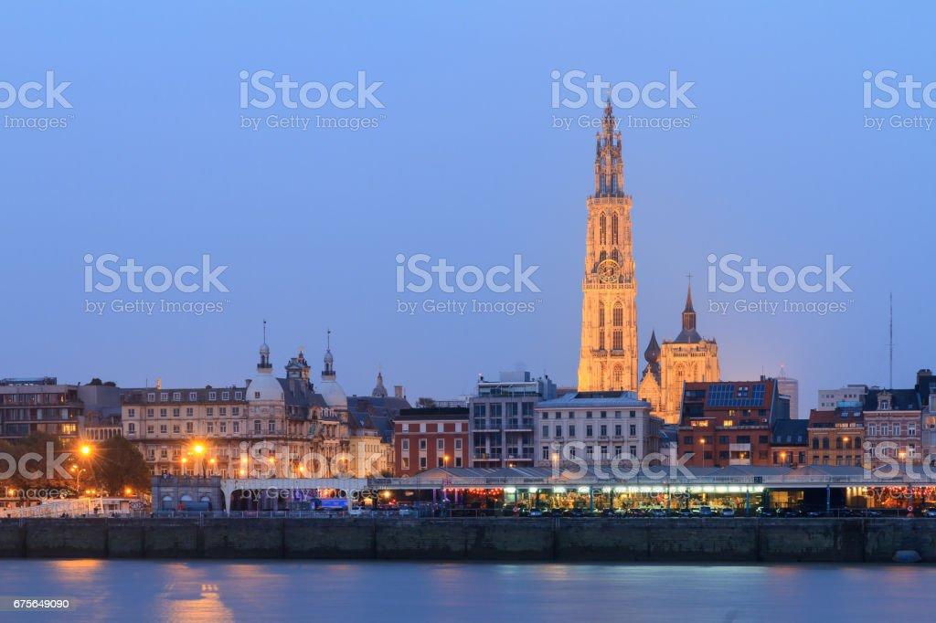 Blue Antwerp stock photo