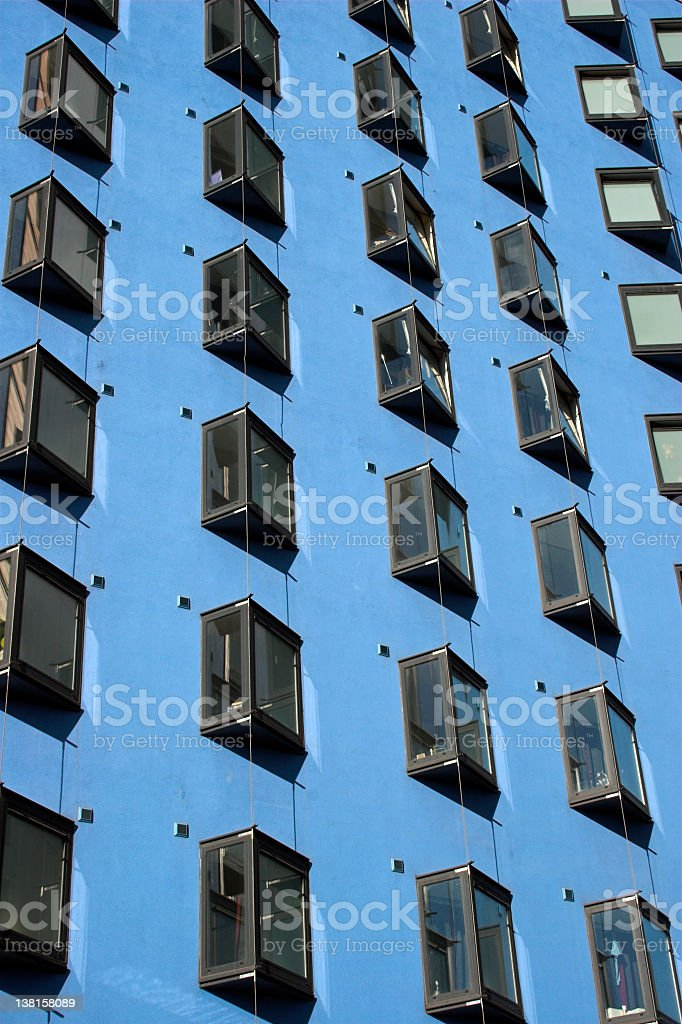 Blue apartment building royalty-free stock photo