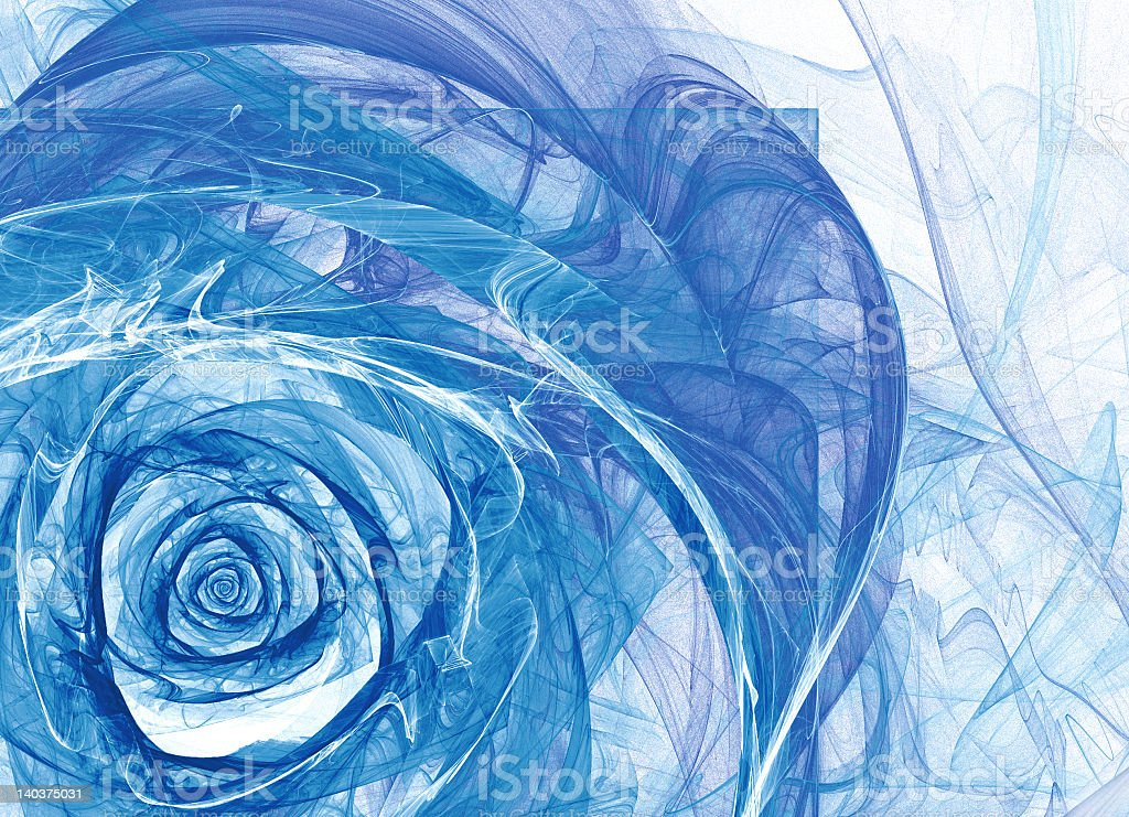 Blue aqua rose royalty-free stock photo