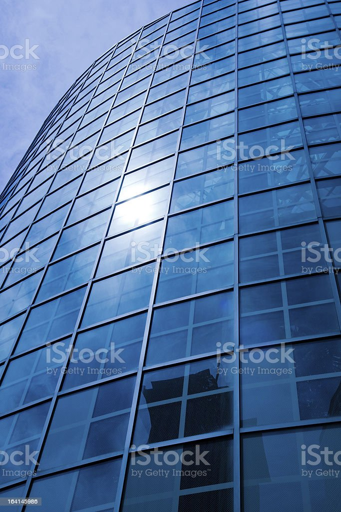 Blue Architecture Skyscrapers Downtown District royalty-free stock photo
