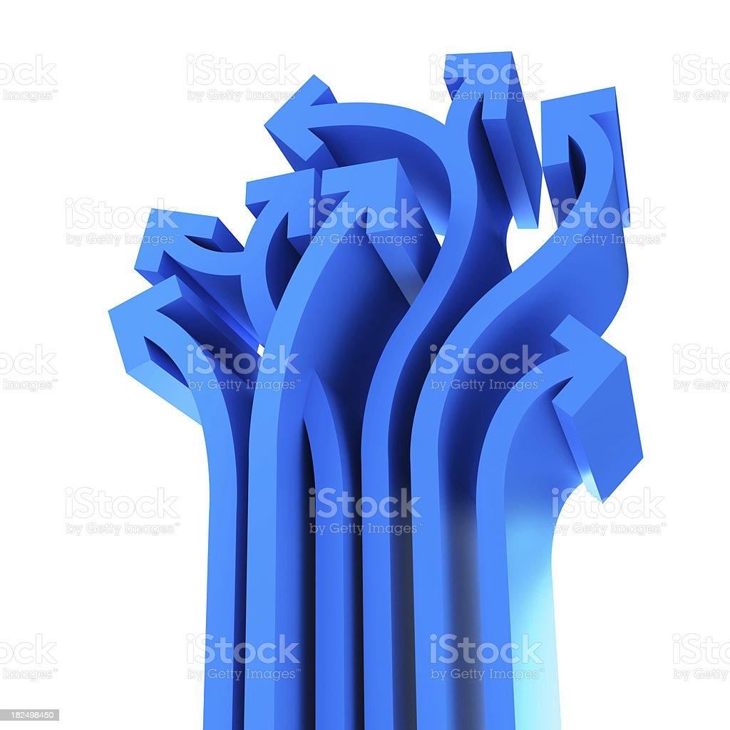 blue arrow royalty-free stock photo