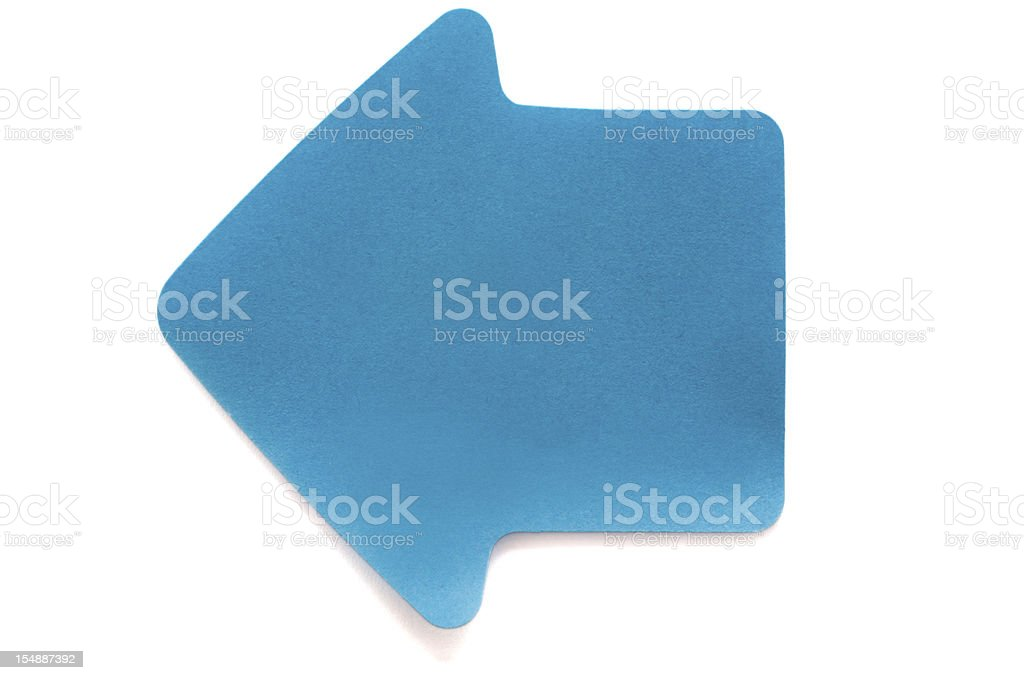 Blue Arrow Post-it Note royalty-free stock photo