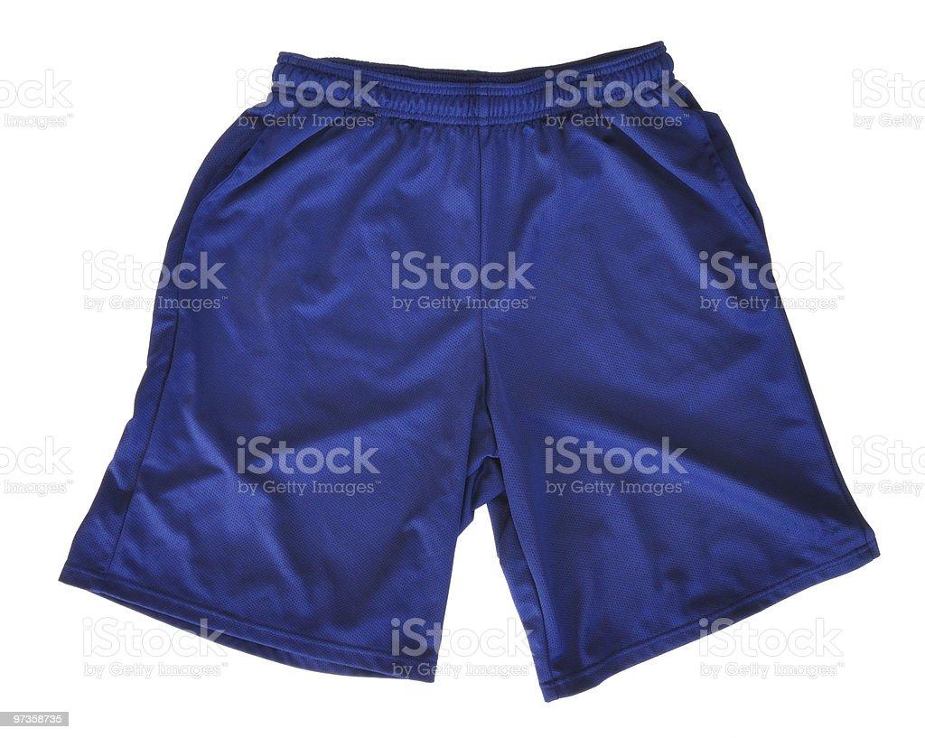 Blue Athletic Shorts stock photo