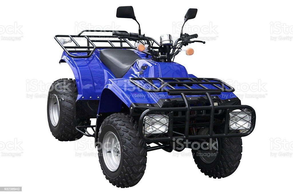 Blue ATV royalty-free stock photo