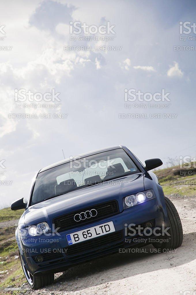 Blue Audi A4 Car royalty-free stock photo