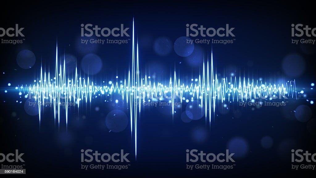 blue audio waveform background stock photo