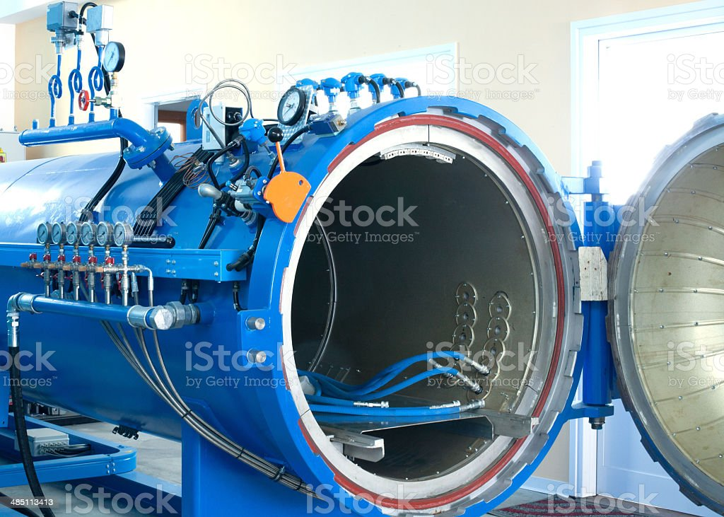Blue Autoclave Equipment stock photo