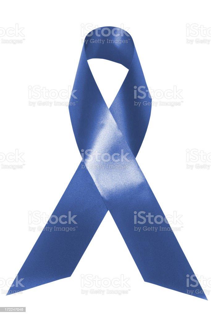 Blue awareness ribbon stock photo