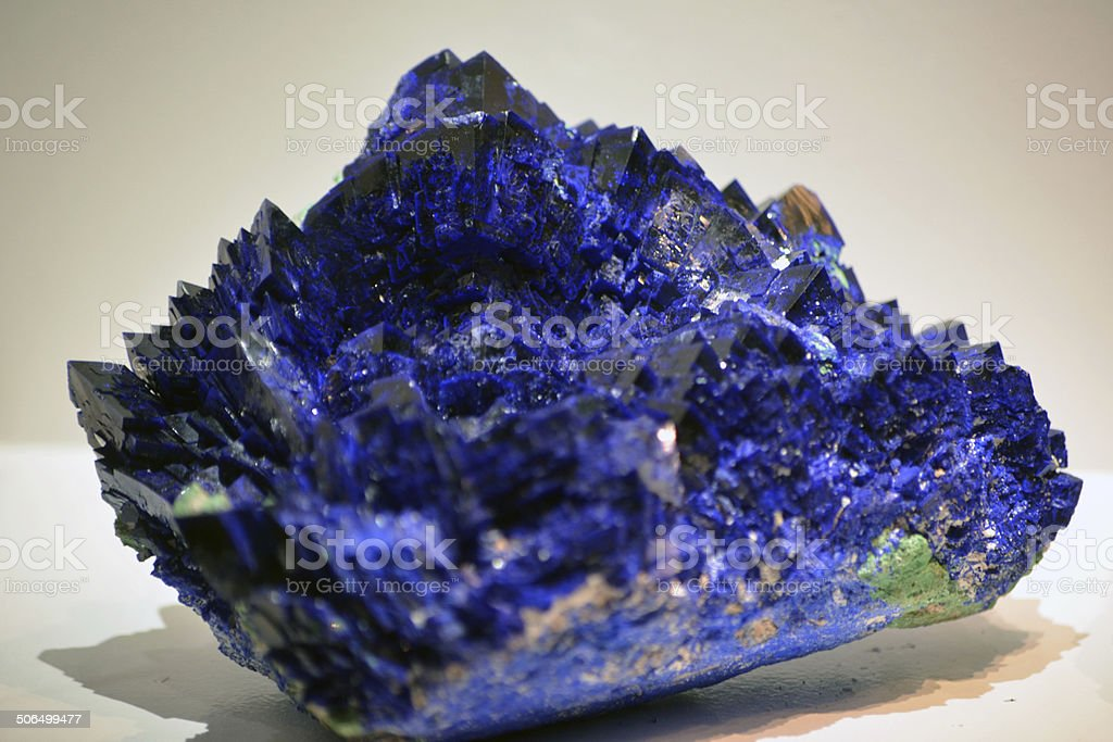 Blue Azurite Macro DOF stock photo