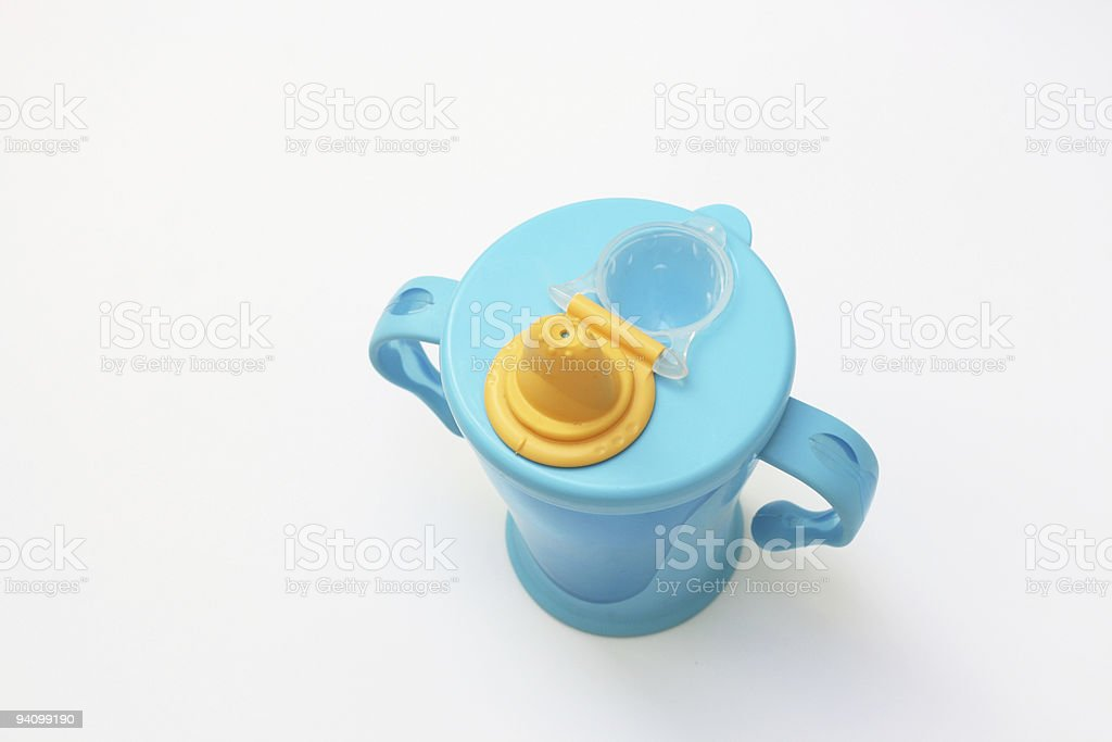 Blue baby beaker royalty-free stock photo