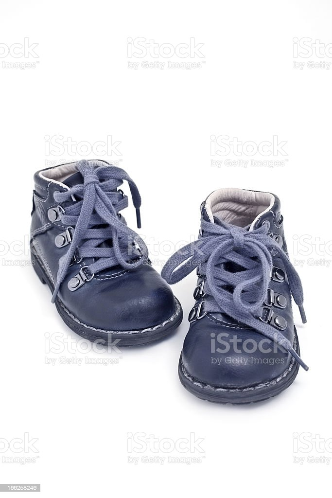 blue baby booties royalty-free stock photo