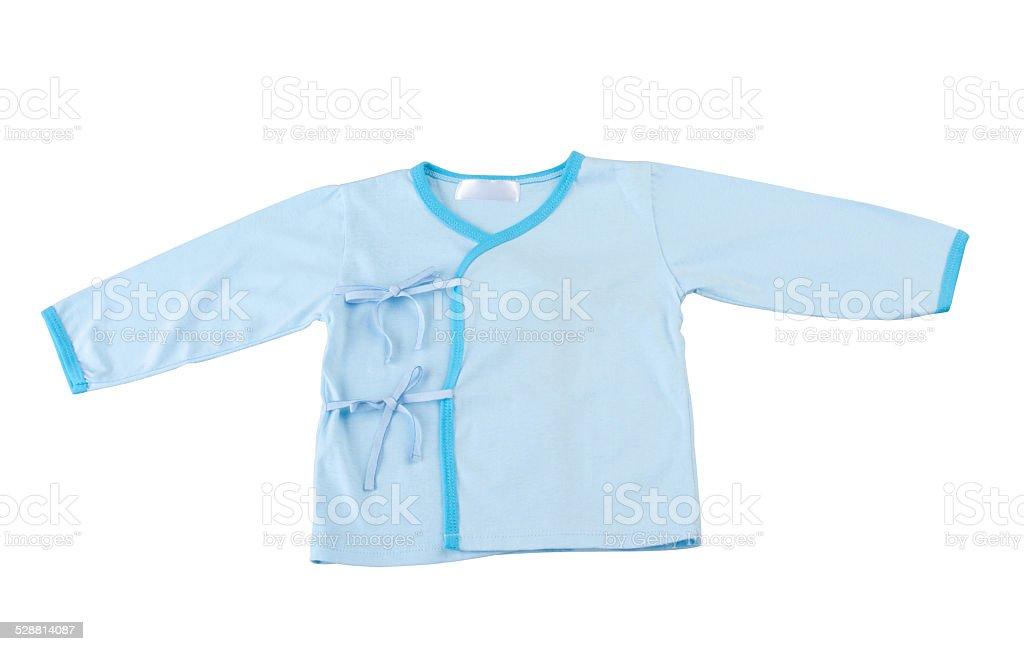 blue baby cloth stock photo