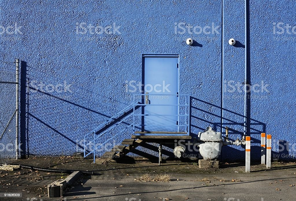 Blue Back Door- Employee only royalty-free stock photo