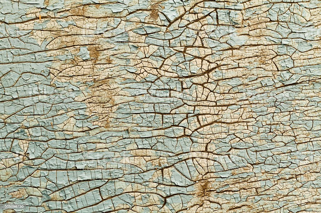 Blue background of old cracked paint stock photo