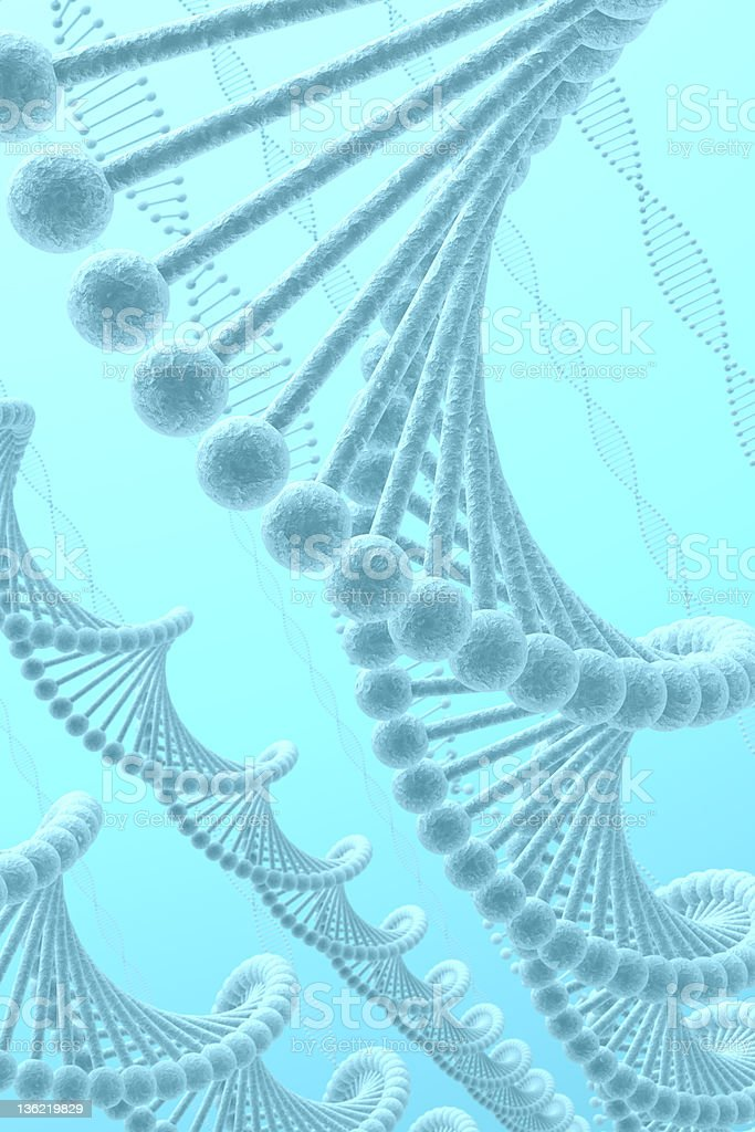 DNA Blue Background royalty-free stock photo