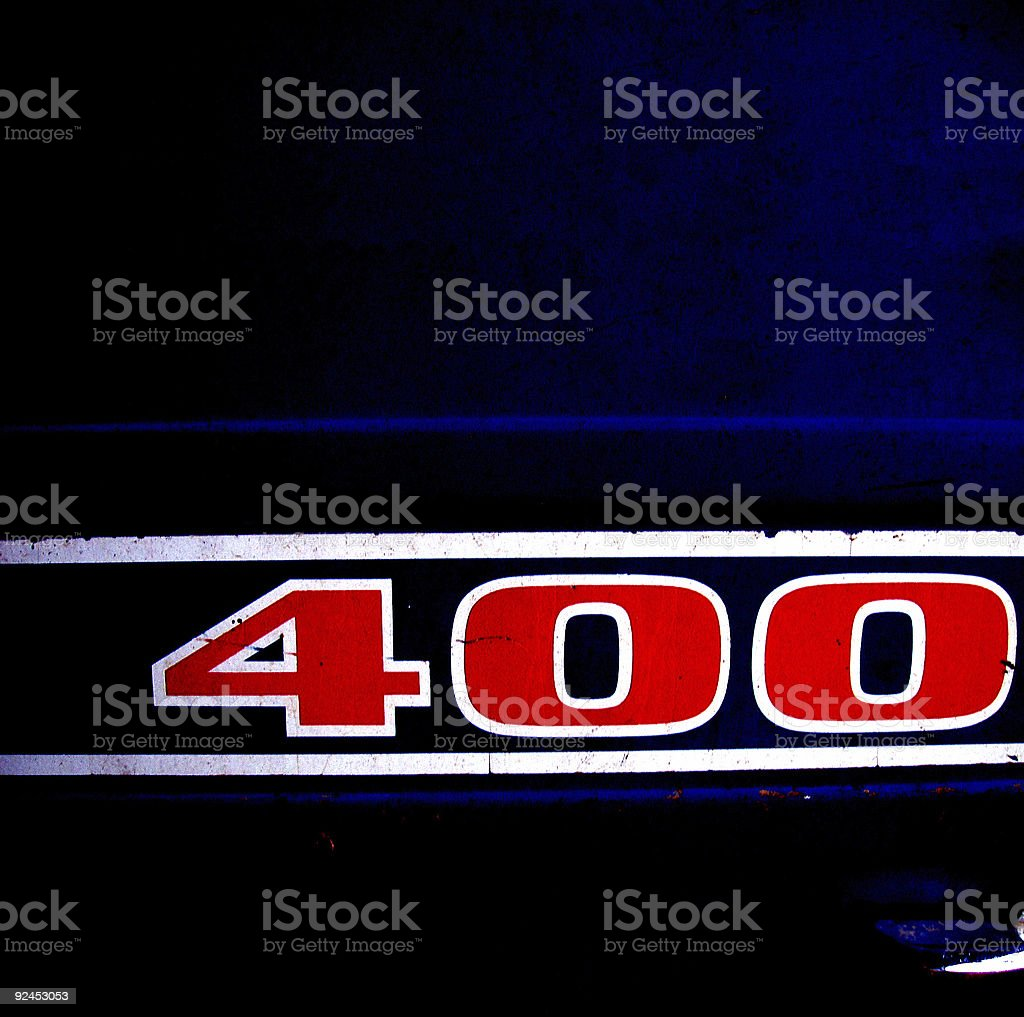 Blue Background - Stripes and Red Racing Numbers royalty-free stock photo