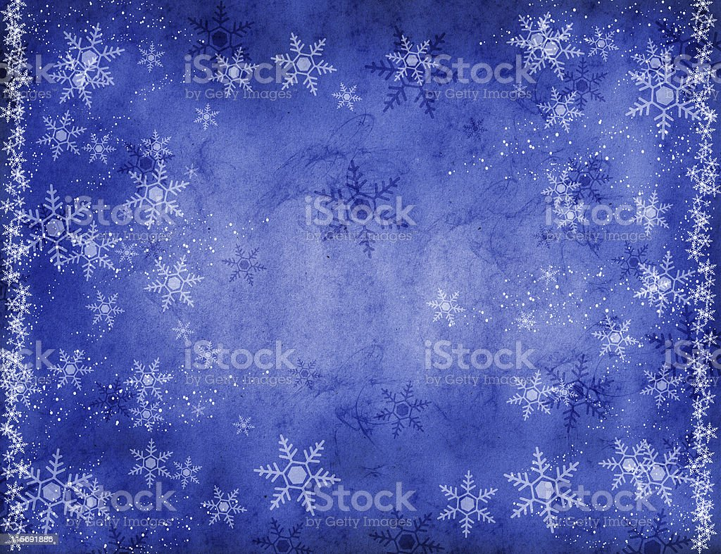 blue background wiith snowflakes royalty-free stock photo