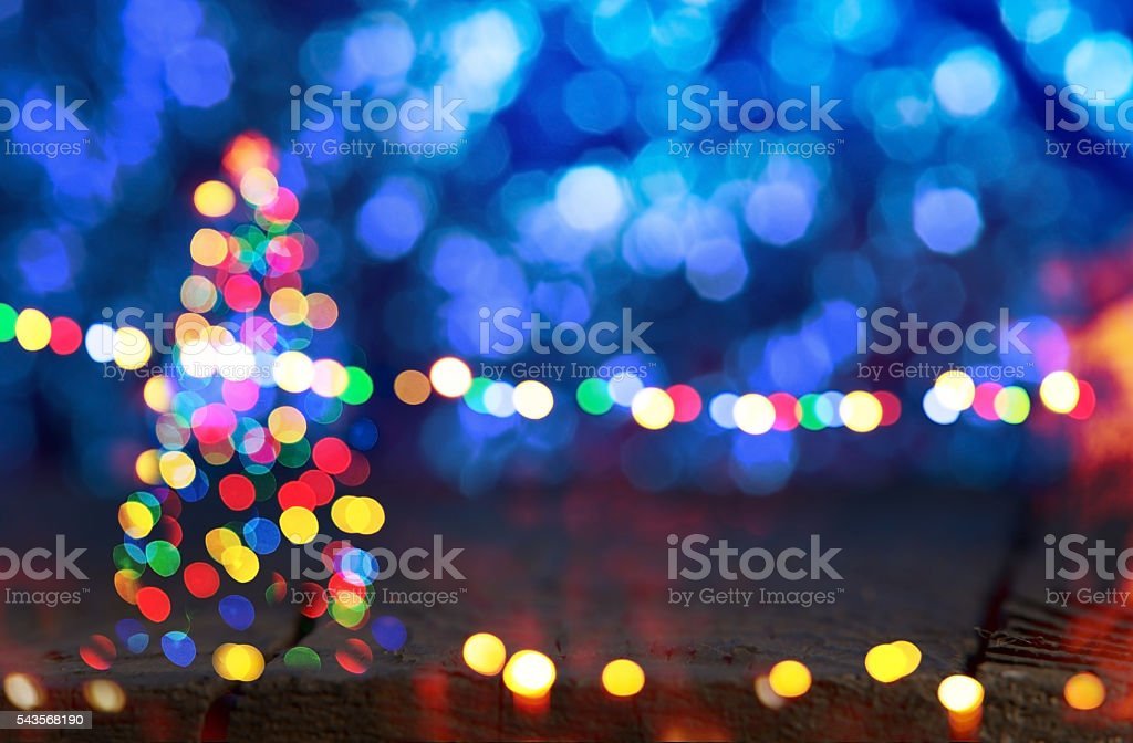 blue background with Christmas tree stock photo