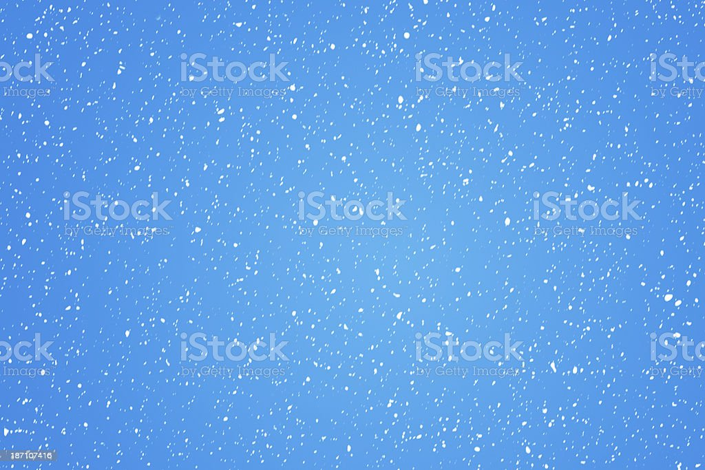Blue background with snowing royalty-free stock photo