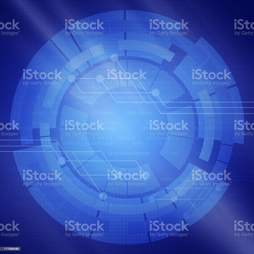 Blue background with the digital elements of  communications royalty-free stock photo