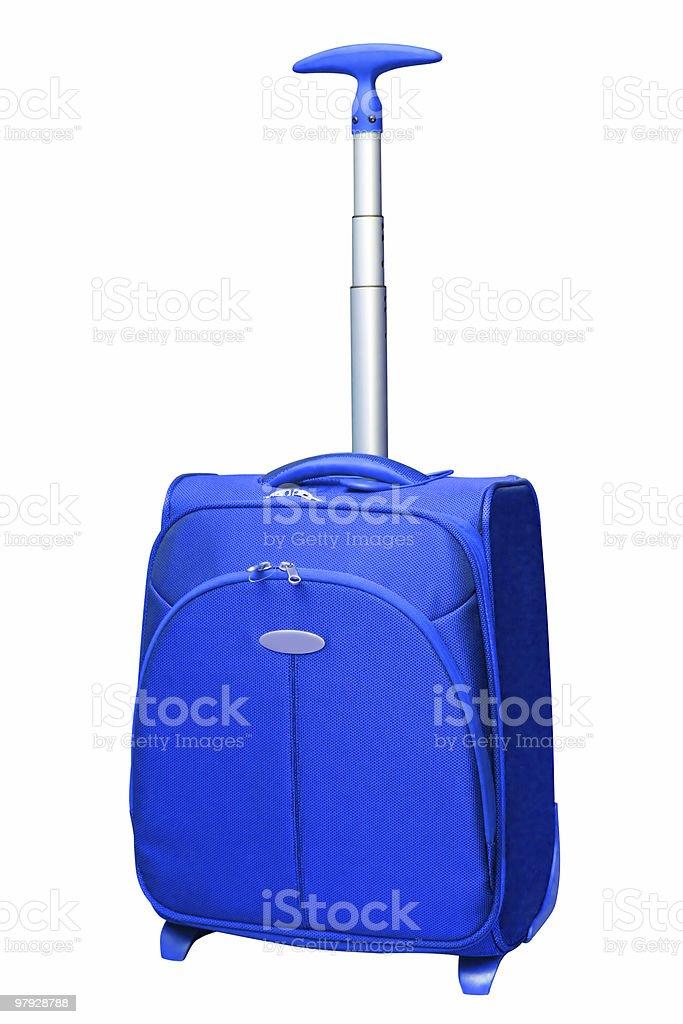 Blue bag stock photo