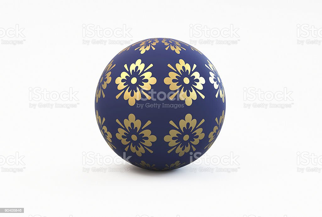 Blue Ball royalty-free stock photo