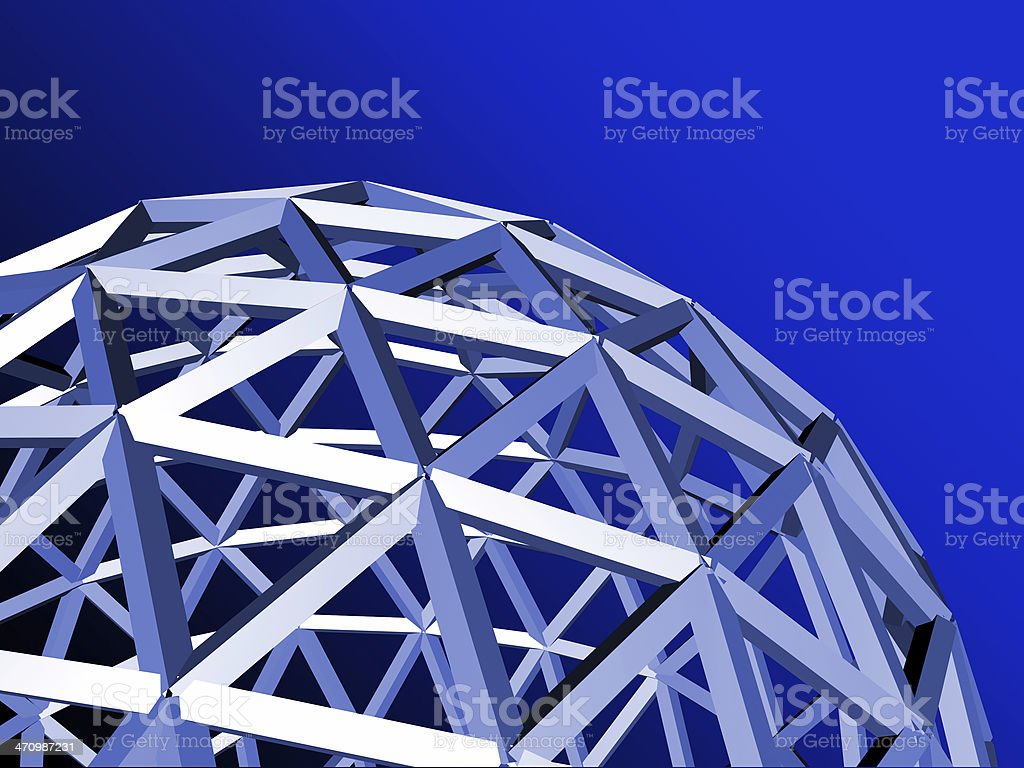 blue ball wire royalty-free stock photo